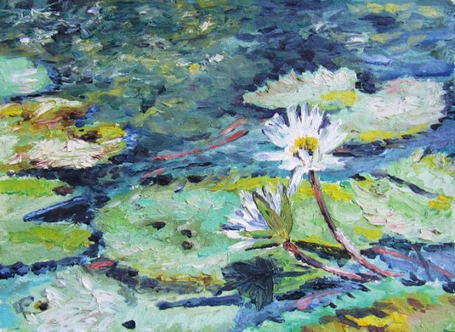Water Lily- Oil Painting