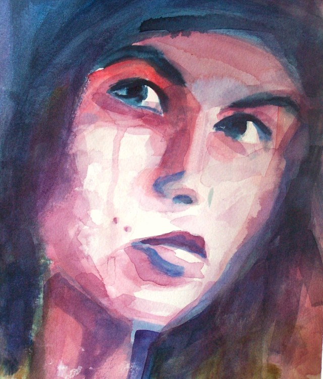 Portrait-watercolor on paper