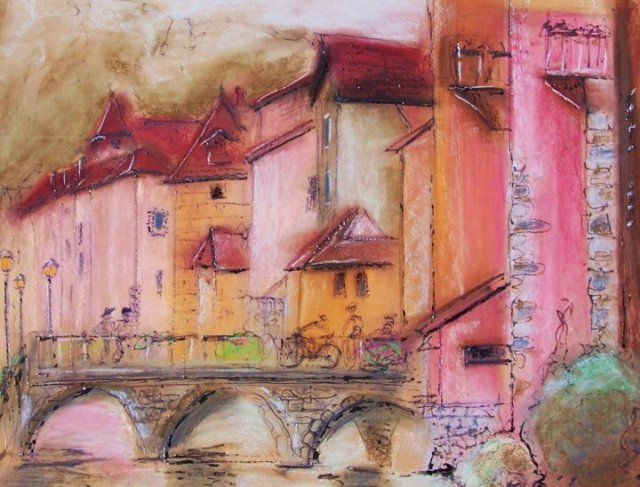Softpastel on paper- Anncey-France