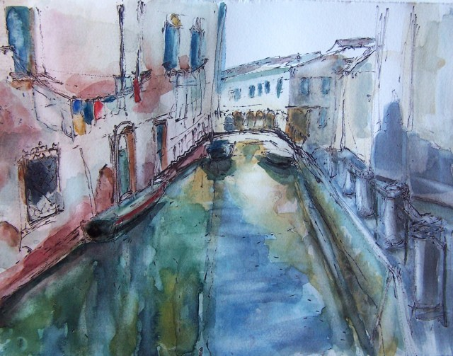 Venice- watercolor on paper
