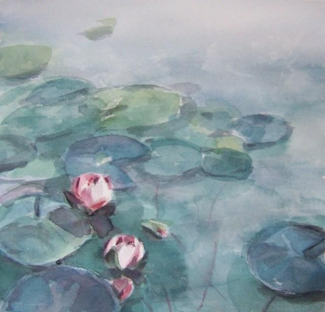 Watercolor on cotton-lotus