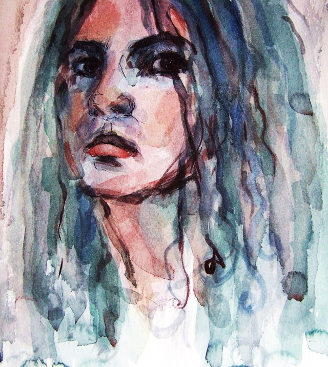 Watercolor on paper- portrait