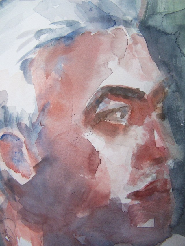 Watercolor on paper - portrait undefined