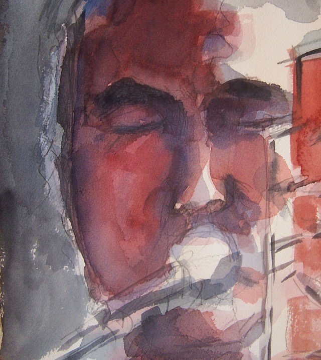 Watercolor on paper-Radik Tyulyush