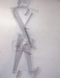 life drawing-quick pose 5