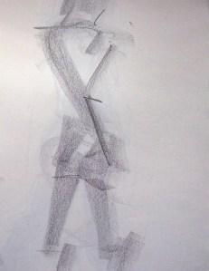 life drawing-quick pose 5