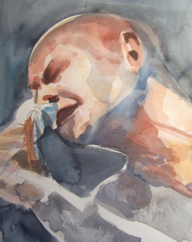 Watercolor on paper-Mazhar Alanson