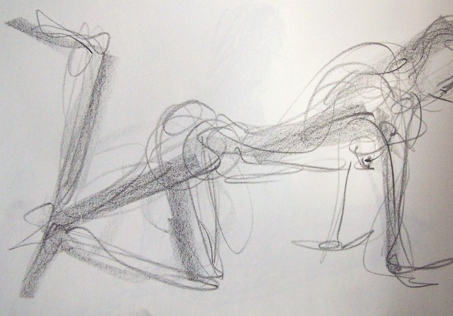 life drawing-quick pose 6