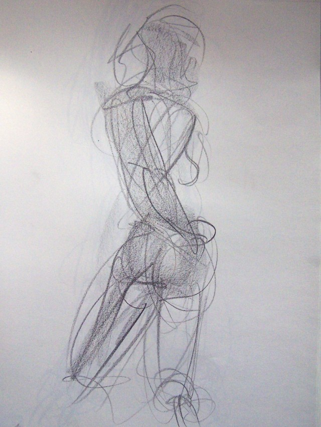 life drawing-quick pose 1