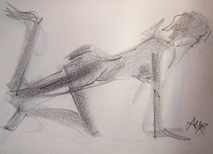 life drawing-quick pose 2