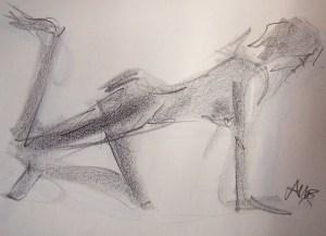 life drawing-quick pose 2