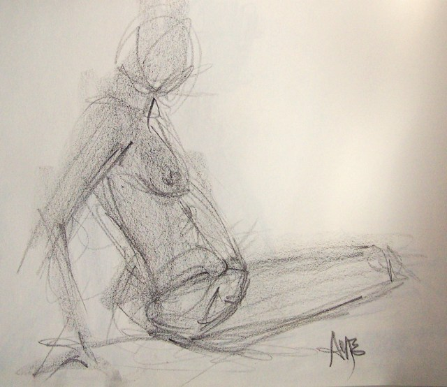 life drawing-quick pose 3