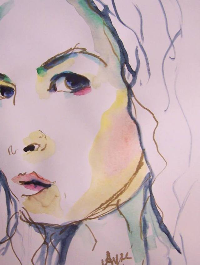 watercolor on paper-selfportrait-spirit