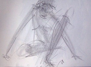life drawing-quick pose 4