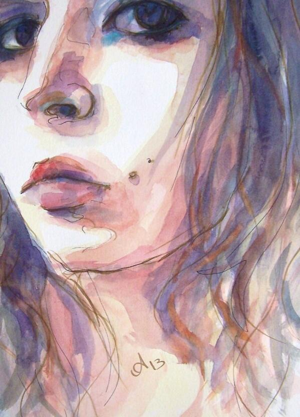watercolor on paper-selfportrait