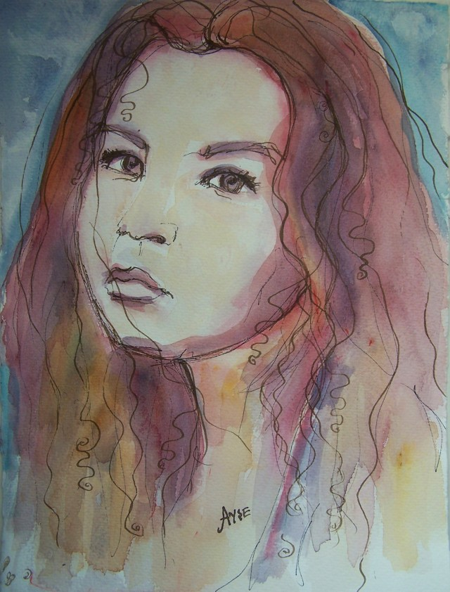 watercolor-art and love