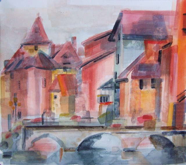 Watercolor-Annecy-France