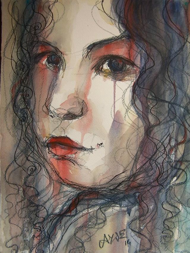 Watercolor-portrait-woman
