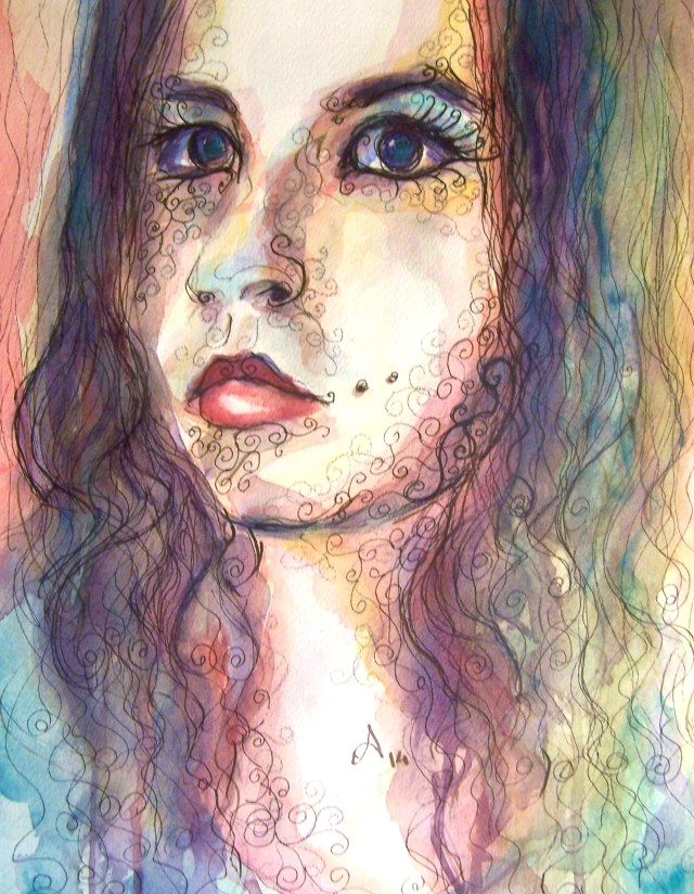 Watercolor-portrait-love