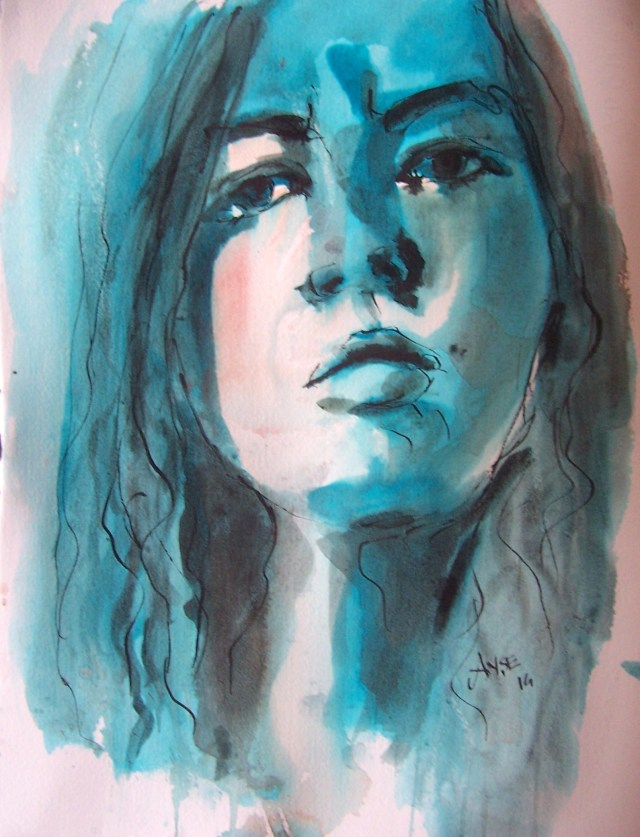 Watercolor-selfportrait-being with you