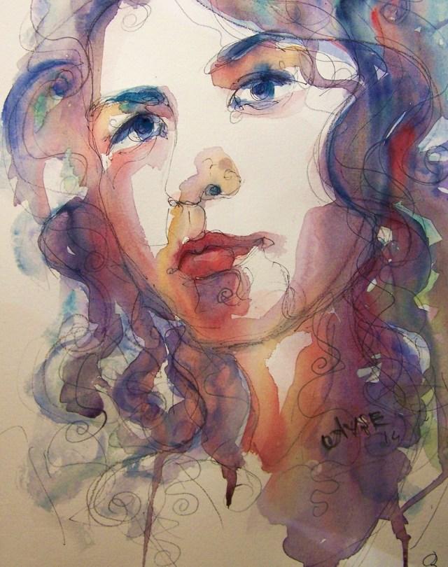 Watercolor-selfportrait-Hidden Music