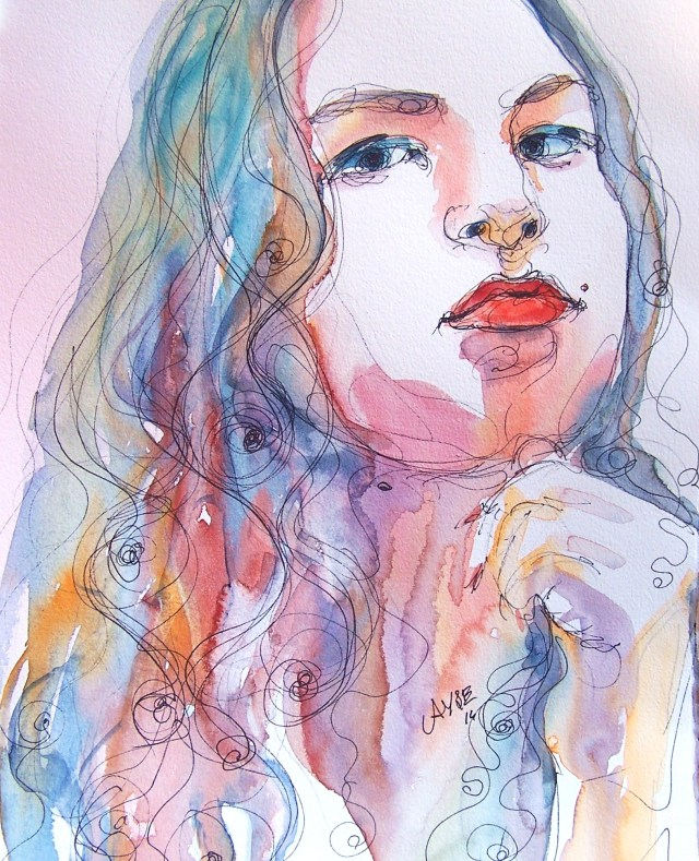 watercolor-selfportrait-living
