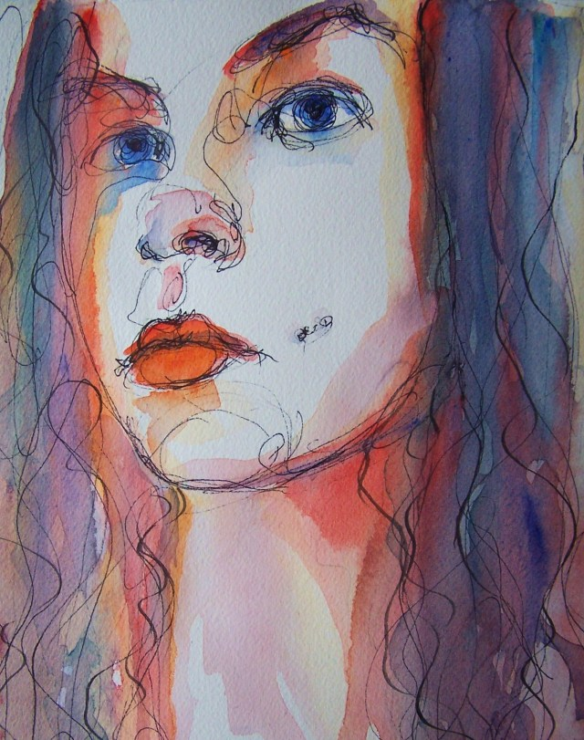 watercolor-selfportrait-be in love ♥