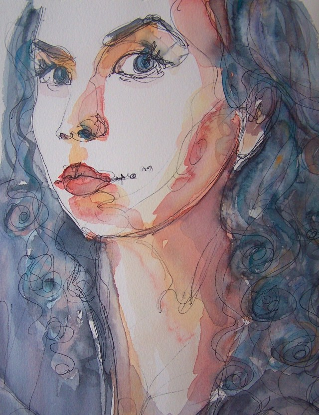 watercolor-selfportrait-love will find a way