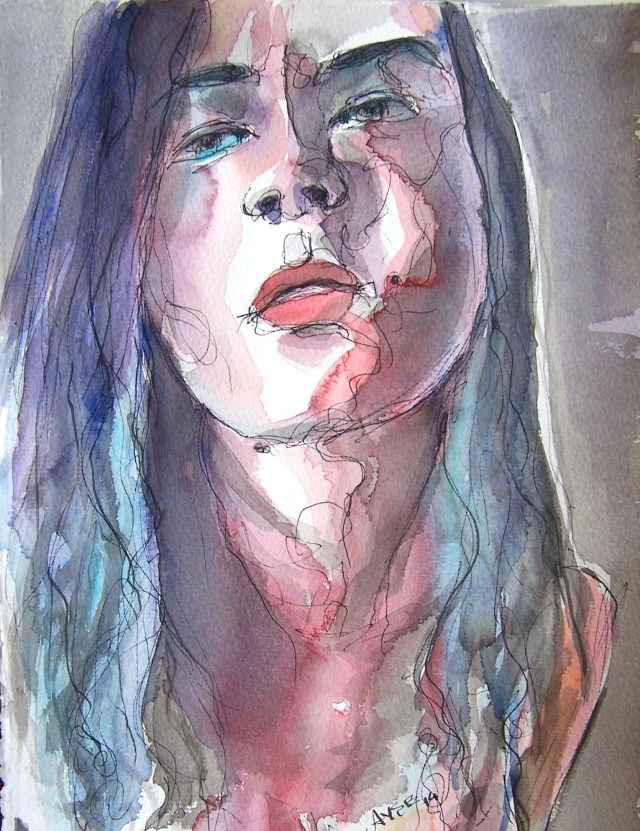 watercolor-selfportrait-wherever tears fall