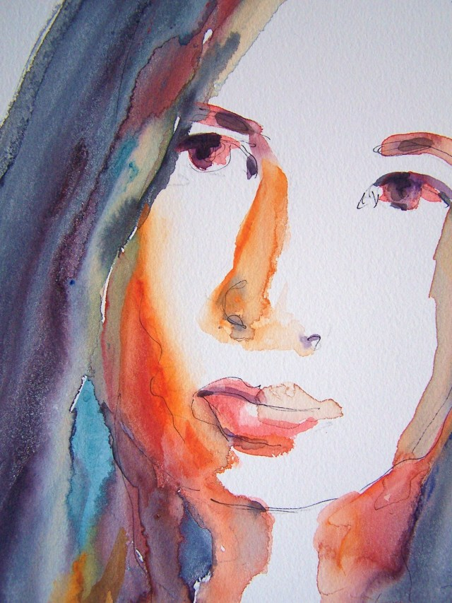 watercolor-selfportrait-lotus