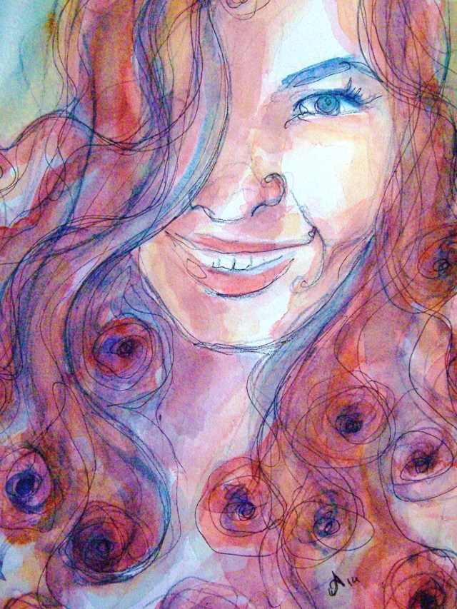 Watercolor-Mixed-Media-Portrait