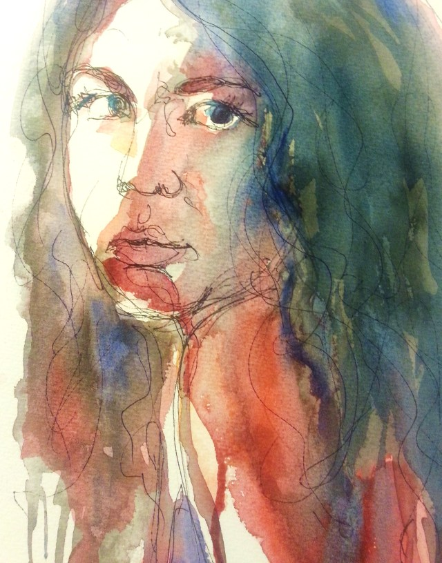 watercolor-selfportrait-journey into yourself