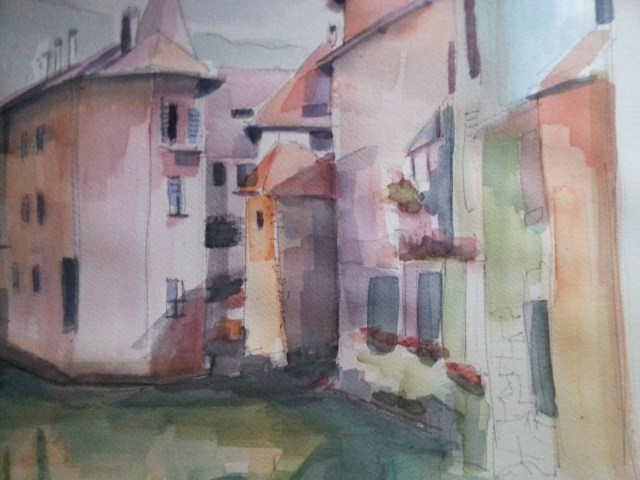 Watercolor-France-Annecy-We are all connected
