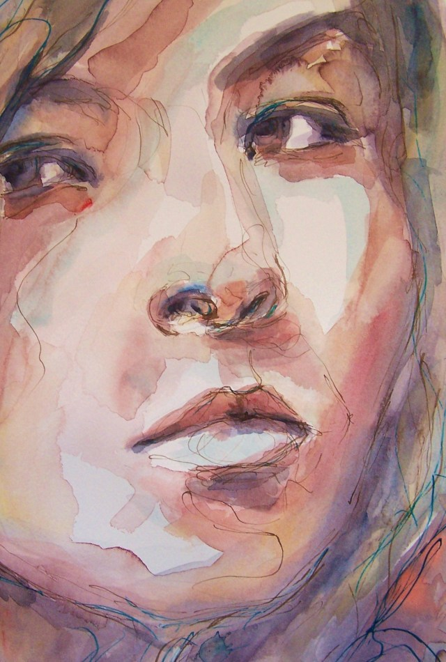 Watercolor-Selfportrait-Difficulties