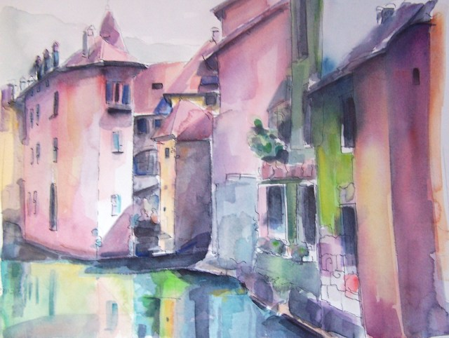Watercolor-Annecy-France-La beauté sauvera le monde