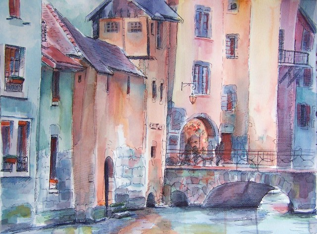 watercolor-anncey-france-wisdom is organized life