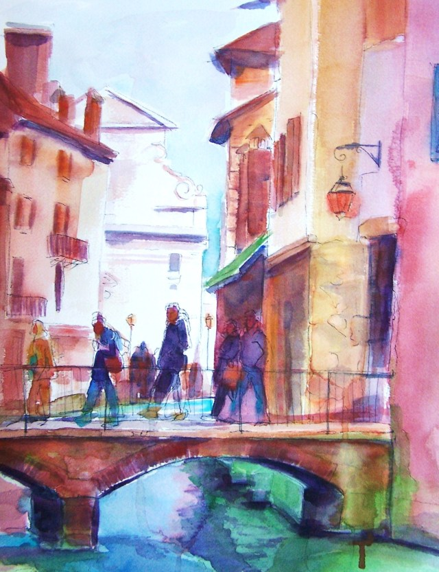 watercolor on paper – annecy – france – the seed of suffering