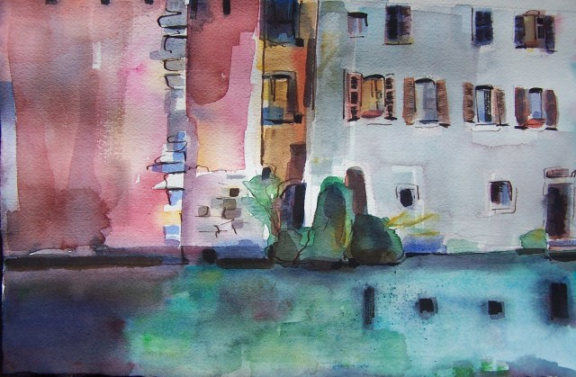 watercolor - annecy - france - wherever you go