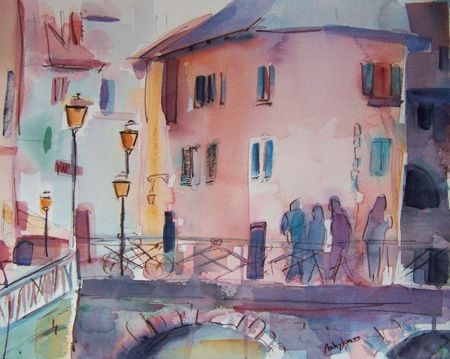 watercolor – annecy – france – the way to know life
