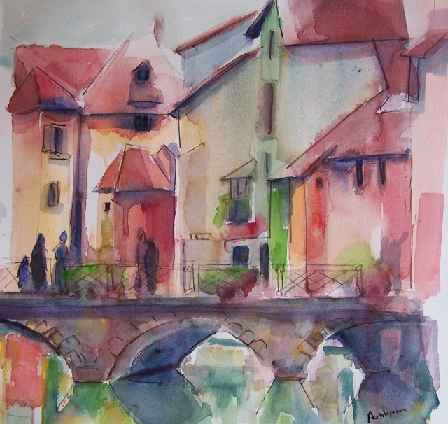 watercolor - annecy - create change