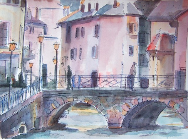 watercolor on paper-annecy-the greatest sin