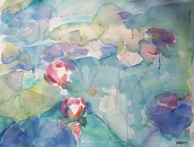 Water Lilies - watercolor