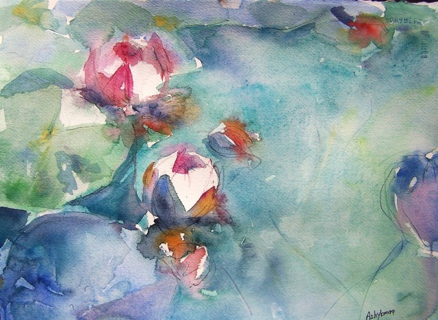 Water Lilies – watercolor -  traveler