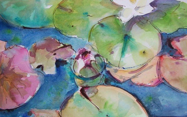 Water Lilies – watercolor – sufferings of light