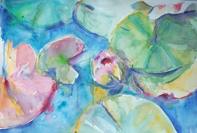 Water Lilies – watercolor - change