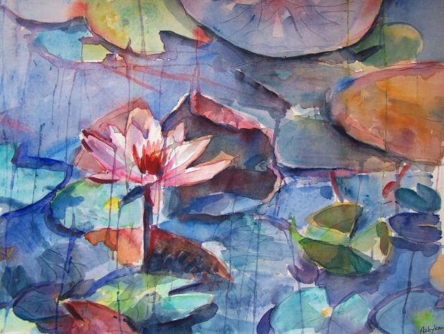 watercolor – water lily – spiritual life
