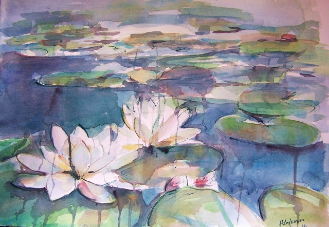 watercolor – water lilies