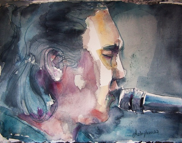 Watercolor on paper - Portrait - Radik Tyulyush