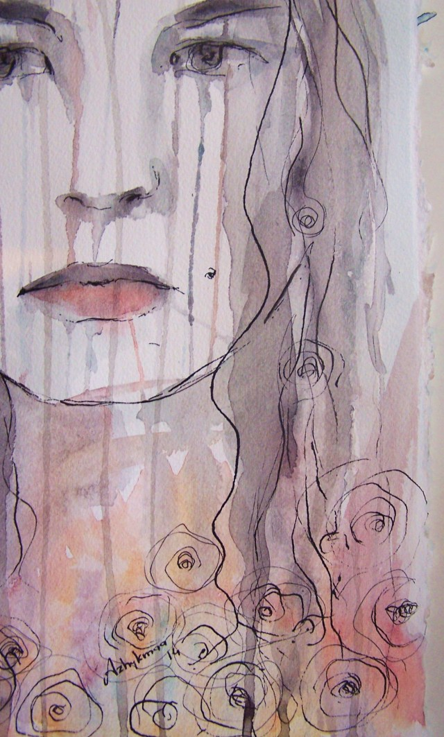 watercolor on paper-portrait-I want your sun to reach my raindrops