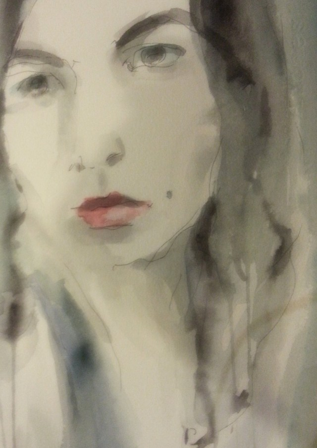 watercolor on paper-portrait-who truly loves you